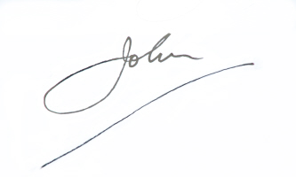 John Moonie, hypnotherapist and hypnotherapy trainer signature
